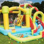 BeBop Aire de Jeux et Toboggan Aquatique gonflables 8 en 1