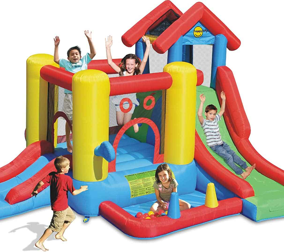 château gonflable Happy Hop 7 en 1 Play house 9019